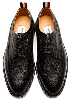 Complete your ensemble in a classic Thom Browne wingtip