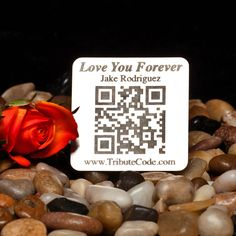 A personal favorite from my Etsy shop https://www.etsy.com/listing/191053417/qr-code-memorial-plaques-to-remmeber