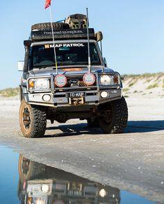 Taking some time for reflection on Eighty Mile Beach, WA #hemamaps #australia #seeaustralia #outback #outbackaustralia #offroad #offroading #overland #overlanding #4wd #4x4 #4x4life #4wheeling #landcruiser #lc76 #landcruiser76 #toyota4x4