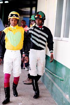 Photo: Wayne Tippetts. Jockey uniforms, Caymanas Park