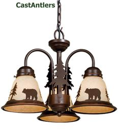 Light fixture for camp - Very rustic lighting options on this website.