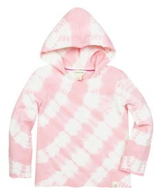 Burts Bees Baby Cherry Tie-Dye Organic French Terry Hoodie - Infant & Toddler   zulily