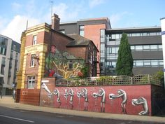 Mural by Phlegm, in my old neighborhood of Sheffield, England