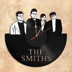 GeoArtCrafts - The Smiths Band Wall Clock Vinyl Record Clock
