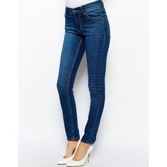 Cheap Monday Tight Skinny Jeans (51 CAD) ❤ liked on Polyvore featuring jeans, blue, cheap monday, skinny leg jeans, stretch denim skinny jeans, super stretch skinny jeans and stretch blue jeans