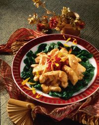 chicken Swimming Rama - my favorite thai restaurant dish.. and i am on a total spinach kick this winter.