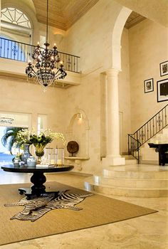 Cove spring house, the most coveted vacation home on Barbados #foyer #entryway #stairs