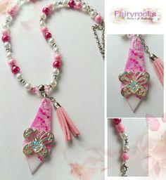 Perlenhalskette #pink #blingbling #diy #selbergemacht #schmuckstück #schmuck # unikat #perlen #basteln #Airbrush
