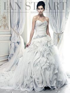 Pracatan | Ian Stuart Bride pale blue wedding gown