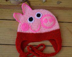 Sombrero del ganchillo de Peppa Pig