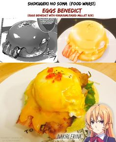 Shokugeki no Soma (Food Wars!) | Eggs Benedict (with Karasumi) | Nakiri Erina | Manga/Anime/Real Life | (c) to their respective owners