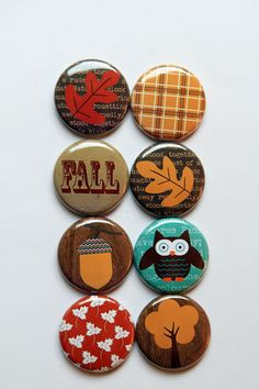 Fall 2 Flair by aflairforbuttons on Etsy, $6.00