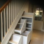 View photos of our Under Stairs Storage & Attic Storage solutions.ie for some beautful examples. Hallway Storage, Attic Storage, Under Stairs Storage Solutions, Bespoke Kitchens, Closet Organization, Kitchen Furniture, Bunk Beds, New Homes, Interior Design