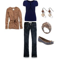 Blue and Brown, created by ttown7 on Polyvore