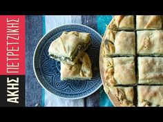 Traditional Greek spanakopita (spinach and feta cheese pie) by Greek chef Akis Petretzikis. Spinach, feta cheese, aromatics and youw own homemade phyllo dough! Greek Spinach Pie, Spinach And Feta, Spanakopita Recipe, Greek Pastries, Greek Appetizers, Snack Recipes, Cooking Recipes, Pie Recipes, Snacks
