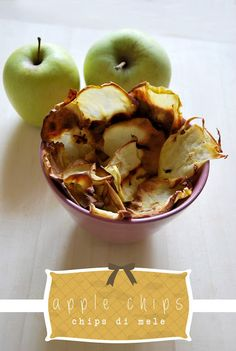 Apple Chips. Healthy snack