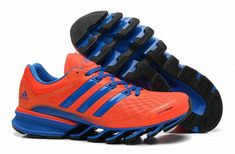new product 78b51 35d34 Wholesale Adidas 2014 Springblade II Orange Blue Mens Running shoes For  Women