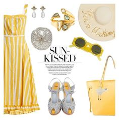 """""""Sun-kissed"""" by pensivepeacock ❤ liked on Polyvore featuring Fendi, Thierry Colson, Alexis Bittar, Louis Vuitton, Karl Donoghue, Eugenia Kim, Linda Farrow, Gucci and Herend"""