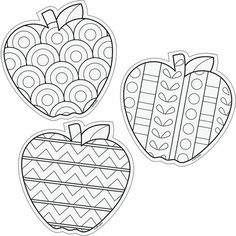 Color Me 6 Designer Cut Outs Apples: Autumn Crafts, Autumn Art, Colouring Pages, Coloring Books, Apple Coloring, Arte Elemental, Kids Crafts, Arts And Crafts, Apple Theme