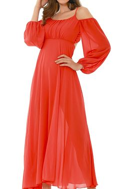 Cutout Red Maxi Dress by Alfred via @bestmaxidress