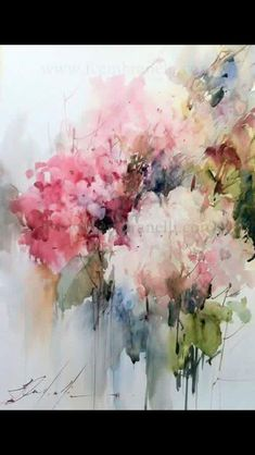 I have chosen this beautiful watercolor painting for you from Fabio Cembranelli. I love the abstract florals with soft colors. Have a lovely day my sweet friend. Arte Floral, Watercolor Flowers, Abstract Painting Watercolor, Abstract Art, Art Flowers, Watercolor Images, Water Color Abstract, Tree Watercolour, Flower Painting Canvas