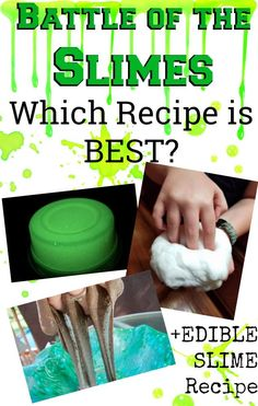 Diy pink glitter tide slime only 2 ingredients glue laundry the 4 best slime recipes including edible slime recipe ccuart Gallery