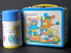 1986 popples metal lunchbox | I remember picking this out at the store... and then my cousin tried to give me her plastic one for this one - proof metal lunch boxes rule lol
