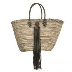 Childs French market Basket Bag Flower Girls Bridesmaids Leather Handles sequins