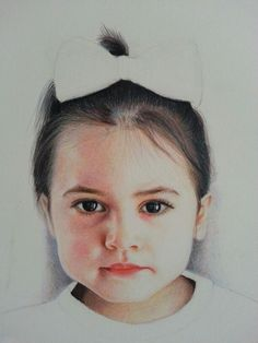 Colored pencil portrait of my daughter.. work in progress.