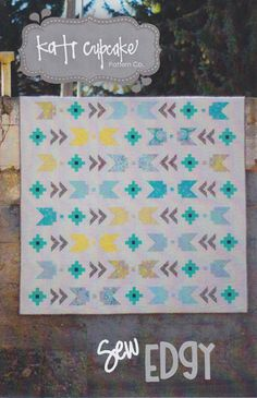 Sew Edgy Quilt Pattern... love the Aztec feel to it.