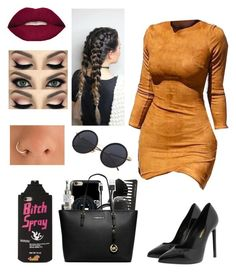 """""""Untitled #394"""" by lexi124 ❤ liked on Polyvore featuring WithChic, Yves Saint Laurent and Smashbox"""
