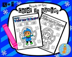Ready to go Color by Number (Winter Snow Theme) by Smart as a Fox DesignsPerfect activity for children who need to practice their simple number recognition skills (Numbers 1-6), for those who finish their work quickly, for morning mathematics activities or simply to relax your students after a long day.