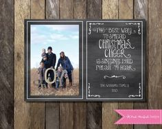 PRINTABLE Photo Christmas Card, Chalkboard Christmas Card, Holiday Card, Chalkboard Holiday Christmas Card, Etsy, Pink Starfish Designs