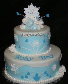 Winter Wonderland Baby Shower Cake | Flickr - Photo Sharing!