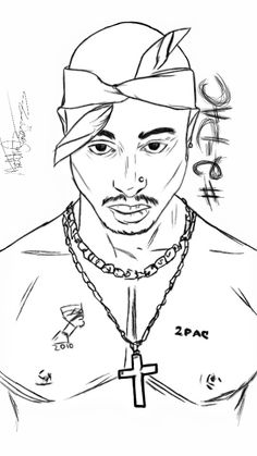 Learn How To Draw 2pac Rappers Step By Step Drawing Tutorials