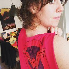 Cape from an old T-shirt #wonderwoman #diy