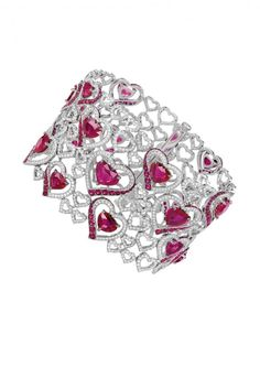 Chopard Bracelet, An Enamouring Ruby And Diamond ✿⊱╮