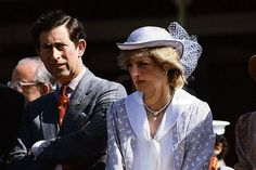 Prince Charles and Princess Diana squint from the sun whi…   Flickr