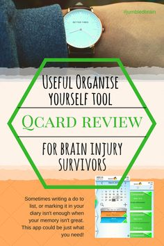 My blog on living with brain injury: Since my brain injury it has becomes harder to organise myself for anything, resulting in increased anxiety. Now I use the Q-card app to take the strain.