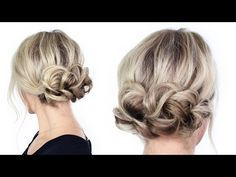 Simple Holiday Updo - YouTube