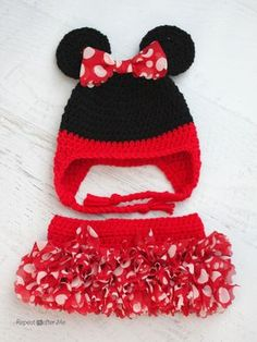 Crochet Minnie Mouse Inspired Tutu with Red Heart Boutique Sassy Fabric  Yarn. Repeat Crafter MeCrochet ... d890b65896c