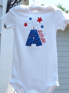 ideas for my kiddos 4th of July Shirts Baby Shirts, Kids Shirts, Cute Shirts, Onesies, Fourth Of July Shirts For Kids, Silhouette Cameo Machine, Silhouette Maker, Baby Applique, Patriotic Shirts