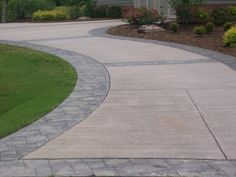 DRIVEWAY WITH STAMPED CONCRETE