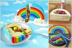 Rainbow Pinata Cake Recipe