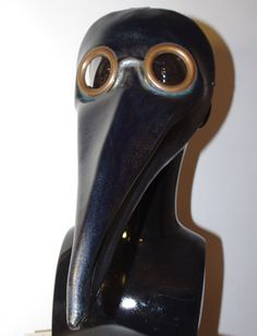 Doctor Plague Mask - leather, dark blue.
