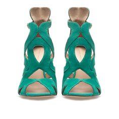 SANDALIA TACÓN TIRAS - Zapatos - Mujer - ZARA España