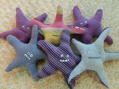 HAPPY STARFISH Knitagain plush sea creature made by KittyAllen