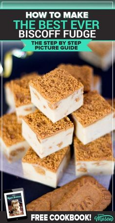 This delicious Biscoff Fudge is a CRAZY easy microwave fudge recipe using condensed milk. It's a great recipe for kids and a lovely homemade gift. Click through to see for yourself! Biscoff Recipes, Fudge Recipes, Cheesecake Recipes, Candy Recipes, Cupcake Recipes, Easy Microwave Fudge, Easy Fudge, Recipes Using Condensed Milk, Butter Cookies Recipe