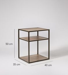Beck bedside table in light mango and charcoal