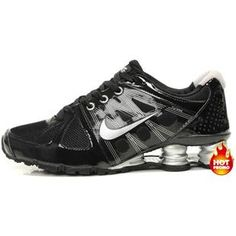 73631661092b97 Mens Nike Shox Agent Black Silver Cheap Nike